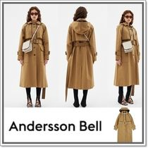 ANDERSSON BELL Plain Long Trench Coats