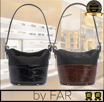 by FAR Casual Style Unisex Street Style Plain Totes