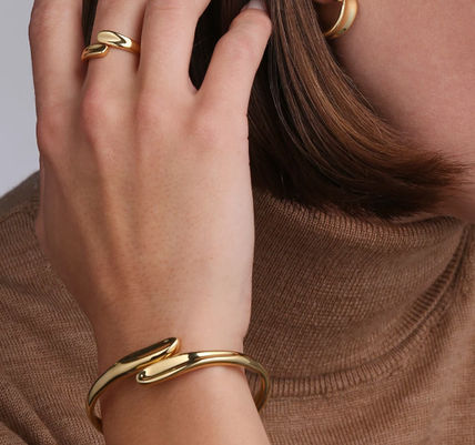 Bangles Casual Style Brass Office Style 14K Gold