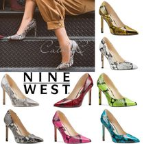Nine West Leather Pin Heels Party Style Home Party Ideas Python