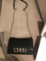 Jimmy Choo Casual Style Lambskin 3WAY Plain Leather Party Style