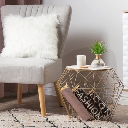Unisex Blended Fabrics Gold Furniture Coffee Tables