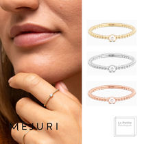 MEJURI Party Style With Jewels Office Style 14K Gold Elegant Style
