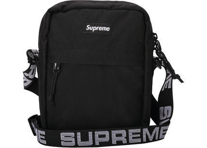 Supreme Small Shoulder Bag Logo Unisex Nylon Plain Street Style
