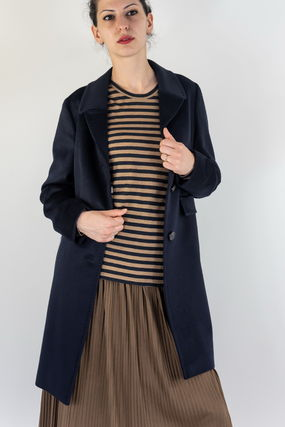 Wool Plain Medium Elegant Style Coats