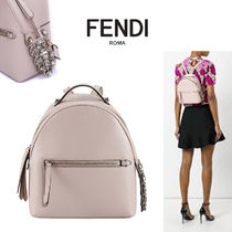 FENDI BY THE WAY Calfskin Studded Plain With Jewels Backpacks