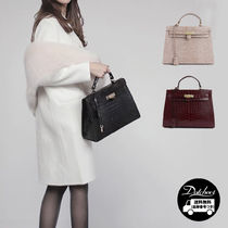 Casual Style Faux Fur 2WAY Plain Office Style Python