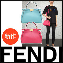 FENDI Chain Leather Party Bags