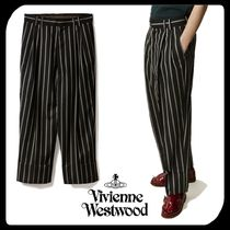 Vivienne Westwood Tapered Pants Stripes Wool Oversized Tapered Pants