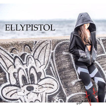 Short Street Style Long Sleeves Cotton Python Logo Cropped