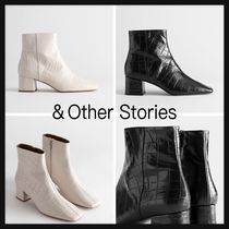 & Other Stories Square Toe Casual Style Plain Other Animal Patterns Leather
