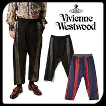 Vivienne Westwood Tapered Pants Stripes Wool Silk Tapered Pants
