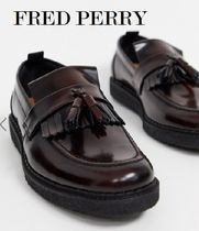 FRED PERRY Plain Toe Loafers Tassel Collaboration Leather