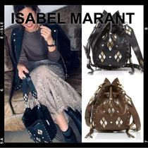 Isabel Marant RADJA Casual Style Studded Leather Shoulder Bags