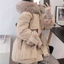 Short Fur Blended Fabrics Street Style Plain Medium