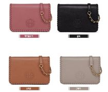Tory Burch Casual Style Unisex Street Style Leather Office Style