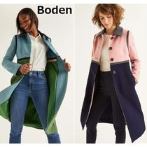 Boden Wool Bi-color Plain Long Chester Coats