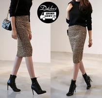 Pencil Skirts Casual Style Medium Party Style