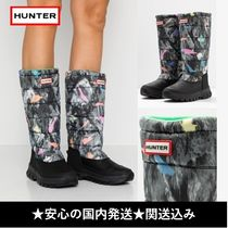 HUNTER Camouflage Flat Boots