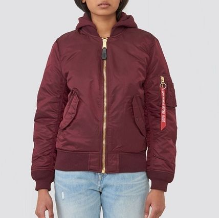 Casual Style Street Style Plain Military Jackets