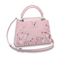 Louis Vuitton CAPUCINES Flower Patterns 2WAY Leather Elegant Style Handbags