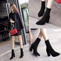 Casual Style Plain Boots Boots