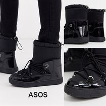 ASOS Round Toe Lace-up Plain Lace-up Boots