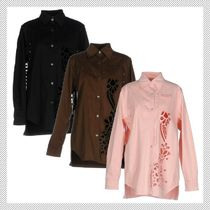 N21 numero ventuno Long Sleeves Plain Cotton Lace Shirts & Blouses