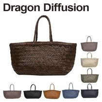 Dragon Diffusion Casual Style Leather Totes