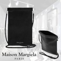 Maison Margiela Unisex Bi-color Plain Leather Wallets & Small Goods