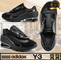 Y-3 Unisex Street Style Collaboration Plain Low-Top Sneakers