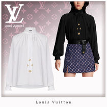 Louis Vuitton Casual Style Silk Blended Fabrics Long Sleeves Plain