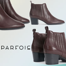 PARFOIS Casual Style Faux Fur Plain Ankle & Booties Boots