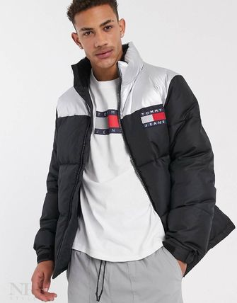 Tommy Hilfiger 2019 20AW Short Street Style Bi color Plain Jackets