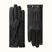 HERMES Plain Leather Leather & Faux Leather Gloves