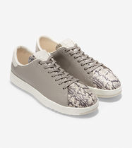 Cole Haan Rubber Sole Casual Style Plain Leather Python