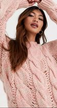 ASOS Crew Neck Cable Knit Casual Style Long Sleeves Plain