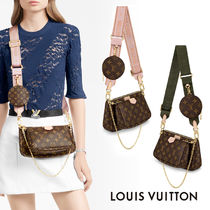 Louis Vuitton MONOGRAM 3WAY Leather Crossbody Logo Shoulder Bags