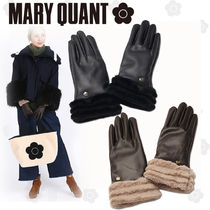 MARY QUANT Flower Patterns Faux Fur Blended Fabrics