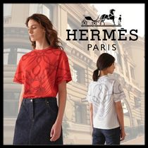 HERMES Crew Neck Cotton Medium Short Sleeves T-Shirts