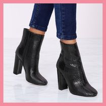 Lipsy Casual Style Faux Fur Python Chunky Heels