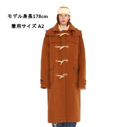 ADERERROR Other Plaid Patterns Unisex Wool Street Style Plain Long