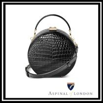 Aspinal of London Leather Office Style Elegant Style Shoulder Bags