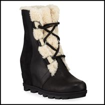 SOREL Casual Style Plain Office Style Mid Heel Boots