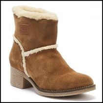 Barbour Casual Style Suede Plain Office Style Boots Boots