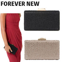 FOREVER NEW 2WAY Chain Plain Party Style With Jewels Clutches