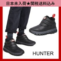 HUNTER Round Toe Rubber Sole Casual Style Unisex Street Style Plain