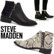 Steve Madden Casual Style Street Style Plain Leather Python