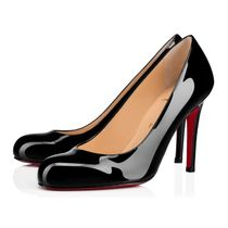 Christian Louboutin Round Toe Plain Leather Pin Heels Party Style Elegant Style