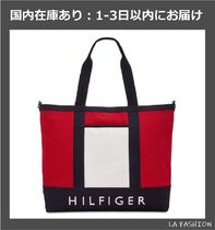 Tommy Hilfiger Casual Style Unisex Canvas Street Style A4 Totes